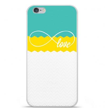 Coque en silicone Apple IPhone 7 Plus - Love Turquoise