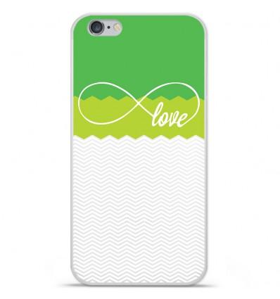 Coque en silicone Apple IPhone 7 Plus - Love Vert