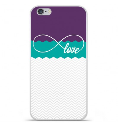 Coque en silicone Apple IPhone 7 Plus - Love Violet