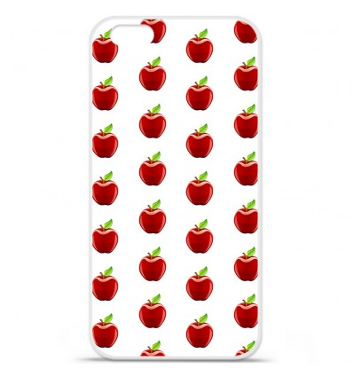 Coque en silicone Apple IPhone 7 Plus - Pomme Blanc
