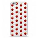 Coque en silicone Apple IPhone 7 Plus - Pommes Gris