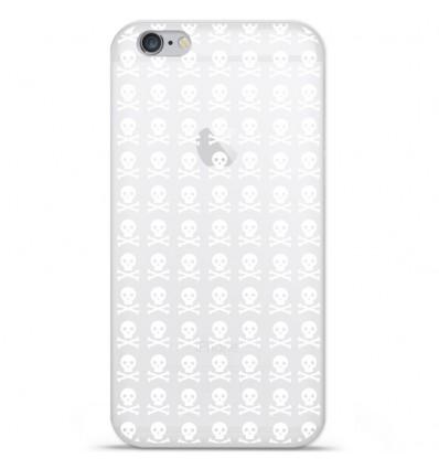 Coque en silicone Apple IPhone 7 Plus - Skull blanc