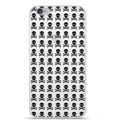 Coque en silicone Apple IPhone 7 Plus - Skull Noir