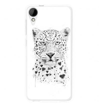 Coque en silicone HTC Desire 825 - Balasz Solti (Love leopard)