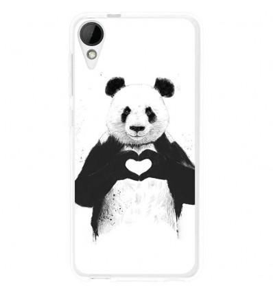 Coque en silicone HTC Desire 825 - Balasz Solti (Love Panda)