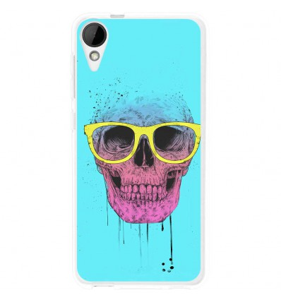 Coque en silicone HTC Desire 825 - BS Skull glasses