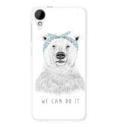 Coque en silicone HTC Desire 825 - BS We can do it