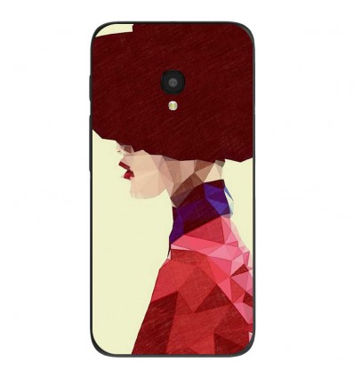 """Coque en silicone Alcatel One Touch Pixi 4 5"""" - ML Chic Hat"""