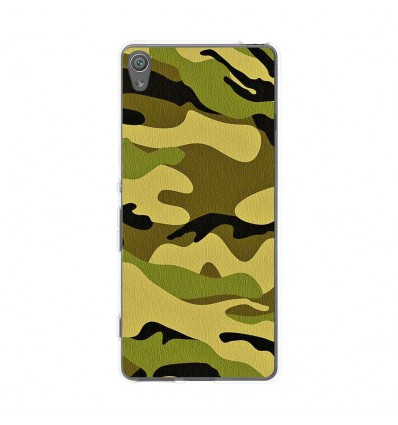 Coque en silicone Sony Xperia XA - Camouflage