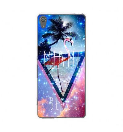 Coque en silicone Sony Xperia XA - Miami beach
