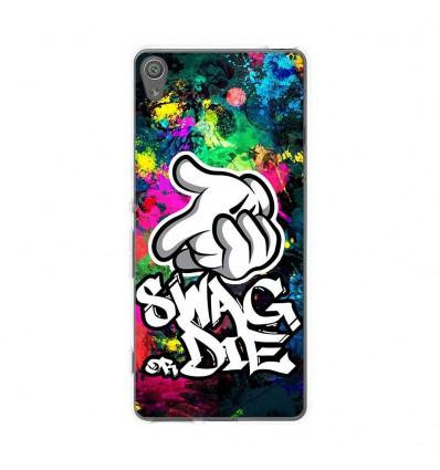 Coque en silicone Sony Xperia XA - Swag or die