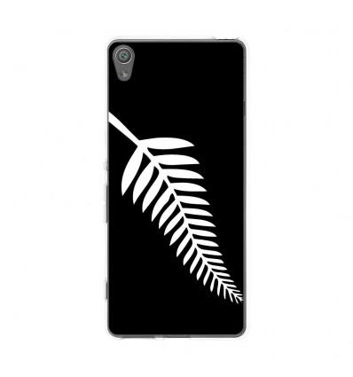 Coque en silicone Sony Xperia XA - Drapeau All Black
