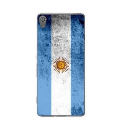 Coque en silicone Sony Xperia XA - Drapeau Argentine