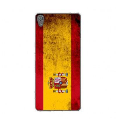 Coque en silicone Sony Xperia XA - Drapeau Espagne
