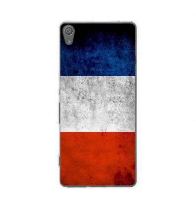 Coque en silicone Sony Xperia XA - Drapeau France