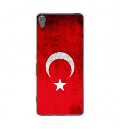 Coque en silicone Sony Xperia XA - Drapeau Turquie
