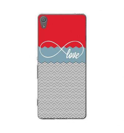 Coque en silicone Sony Xperia XA - Love Rouge