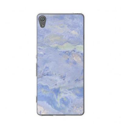 Coque en silicone Sony Xperia XA - Marbre Bleu