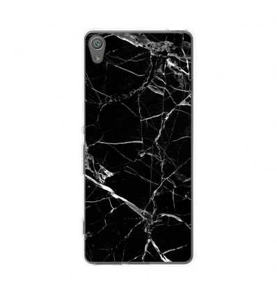 Coque en silicone Sony Xperia XA - Marbre Noir