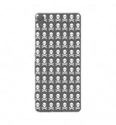 Coque en silicone Sony Xperia XA - Skull blanc