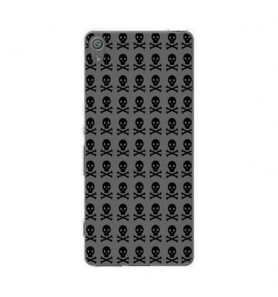Coque en silicone Sony Xperia XA - Skull Noir