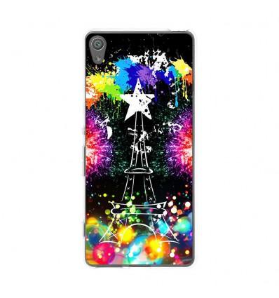 Coque en silicone Sony Xperia XA - Tour Eiffel Star