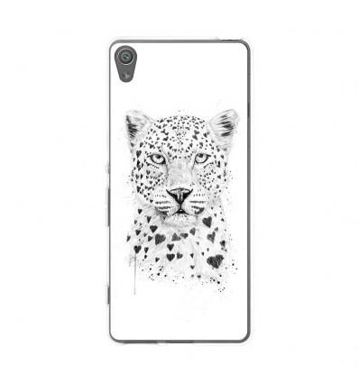 Coque en silicone Sony Xperia XA - Balasz Solti (Love leopard)