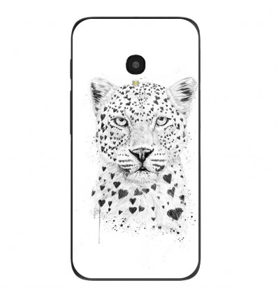 "Coque en silicone Alcatel One Touch Pixi 4 5"" - BS Love leopard"