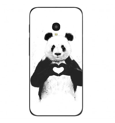 "Coque en silicone Alcatel One Touch Pixi 4 5"" - BS Love Panda"