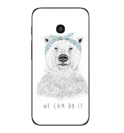 "Coque en silicone Alcatel One Touch Pixi 4 5"" - BS We can do it"