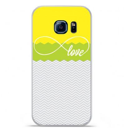 Coque en silicone Huawei Y5 II - Love jaune