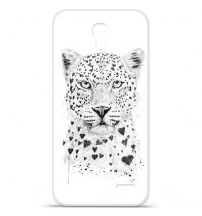 Coque en silicone Orange Roya - BS Love leopard
