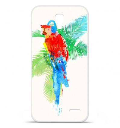 Coque en silicone Orange Roya - RF Tropical party