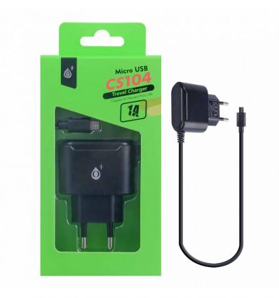 Chargeur secteur micro-USB Universel Noir