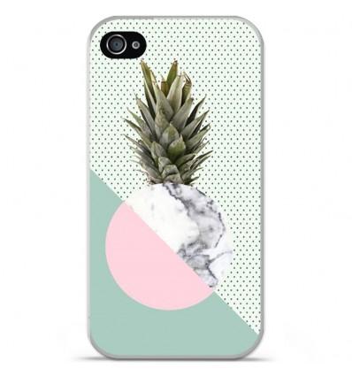 Coque en silicone Apple iPhone 4 / 4S - Ananas marbre