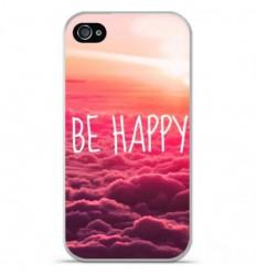 Coque en silicone Apple iPhone 4 / 4S - Be Happy nuage