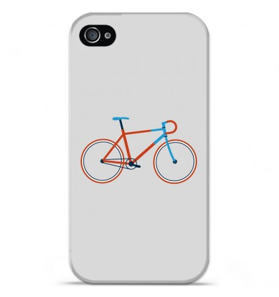 Coque en silicone Apple iPhone 4 / 4S - Bike color Hipster