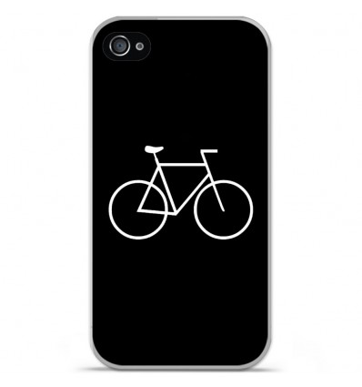 Coque en silicone Apple iPhone 4 / 4S - Bike Hipster