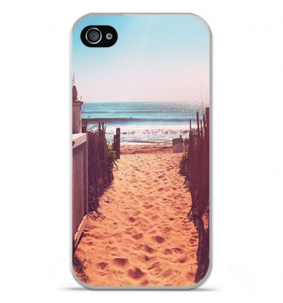 Coque en silicone Apple iPhone 4 / 4S - Chemin de plage