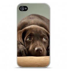 coque en silicone apple iphone 4 4s chiot marron