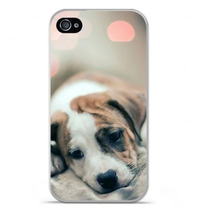Coque en silicone Apple iPhone 4 / 4S - Chiot rêveur