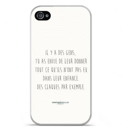 Coque en silicone Apple iPhone 4 / 4s - Citation 01