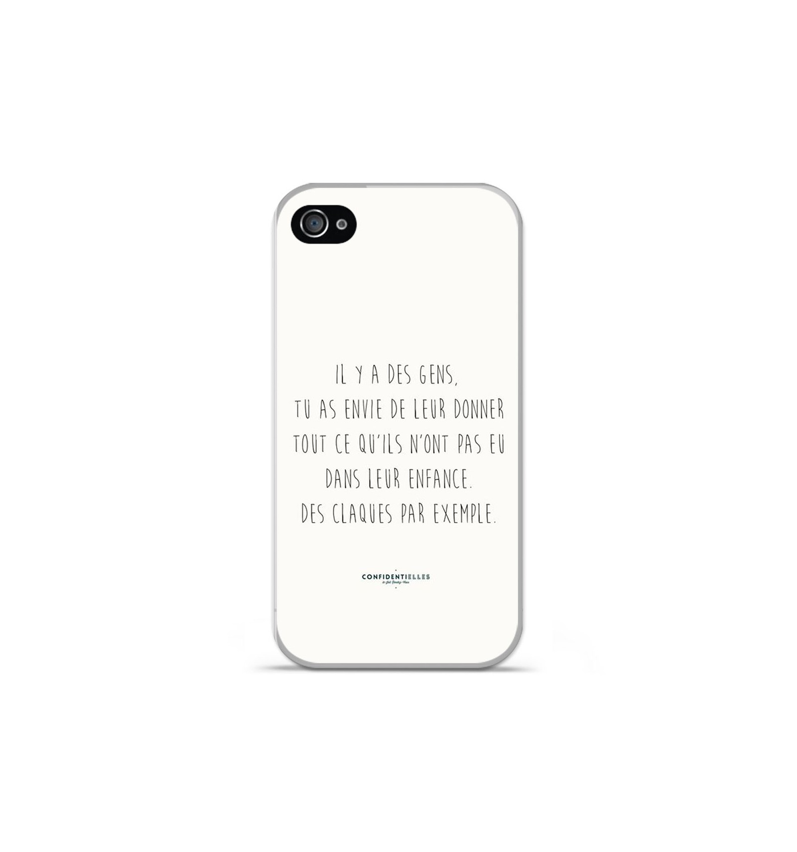 coque en silicone apple iphone 4 4s citation 01