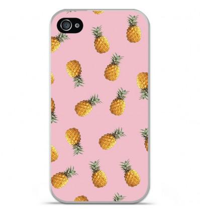Coque en silicone Apple iPhone 4 / 4S - Pluie d'ananas