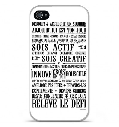 Coque en silicone Apple iPhone 4 / 4S - Citation 11