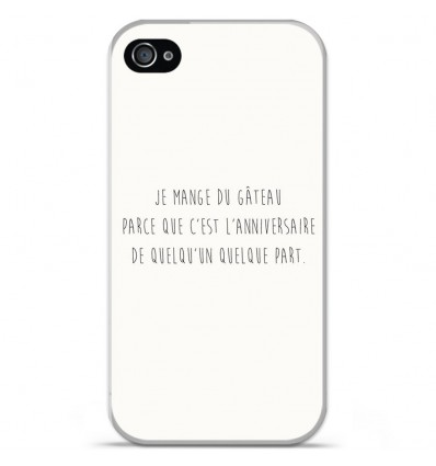 Coque en silicone Apple iPhone 4 / 4S - Citation 12