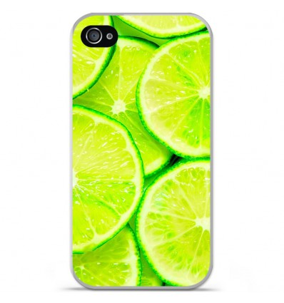 Coque en silicone Apple iPhone 4 / 4S - Citron