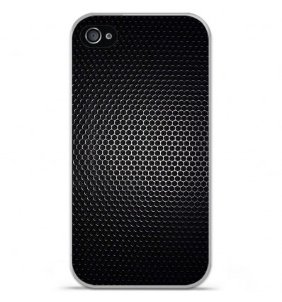 Coque en silicone Apple iPhone 4 / 4S - Dark Metal