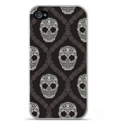 Coque en silicone Apple iPhone 4 / 4S - Floral skull