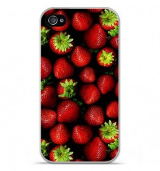 Coque en silicone Apple iPhone 4 / 4S - Fraises
